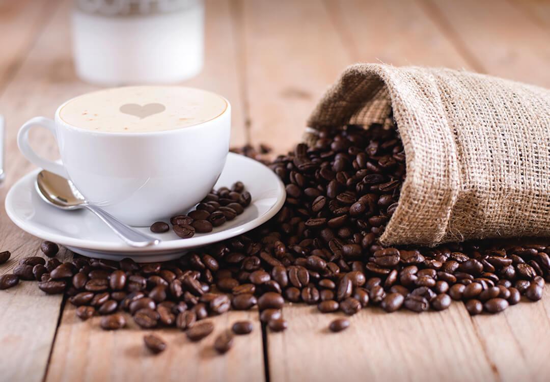 coffee bag and cup of  Rwandan coffee